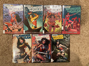 Graphic-Novel-Lot-Wonder-Woman-New-52-Vol-1-2-3-6-7-8-9-Comics-Hardcover-HC-TPB
