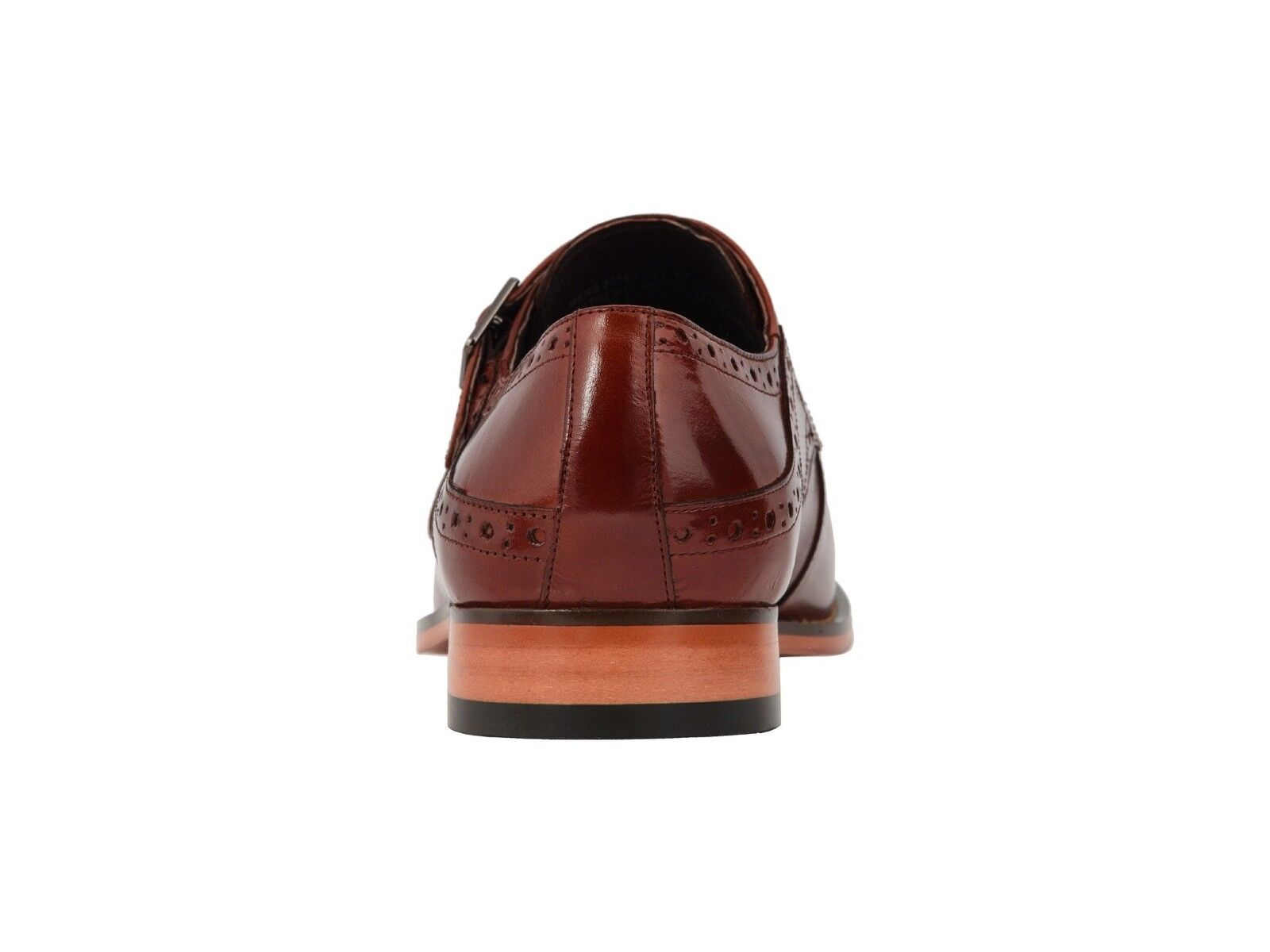 Stacy Adams Tayton Tayton Tayton Men's Cognac Double Monk Strap Cap Toe Dress scarpe 25194-221 91000f