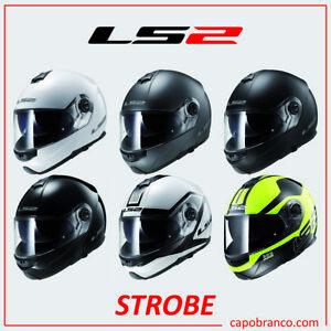CASCO-MOTO-MODULARE-STROBE-LS2-OPEN-FACE-TOURING-DOPPIA-VISIERA-SFODERABILE