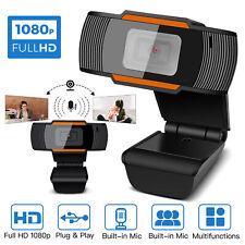 HD 1080P Webcam Auto Focusing Web Camera Cam W/ Microphone For PC Laptop Desktop