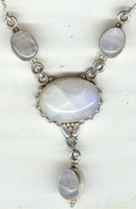 Drop-Style-Stamped-925-Necklace-with-Four-Oval-Moonstone-Cabochon