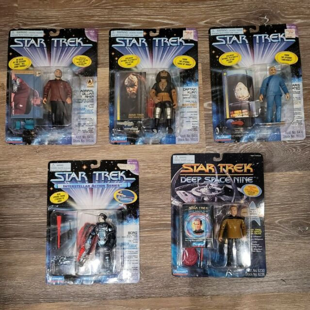 Playmates Star Trek Lot Of 5 Action Figures 1995-96  TNG Deep Space Nine Voyager