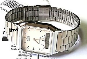 Casio-Vintage-Retro-Silver-Digital-Analog-Men-039-s-Watch-AQ230-AQ230A-AQ-230A-7D
