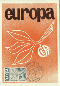 CARTE-MAXIMUM-1er-JOUR-EUROPA-1965-N-1456-STRASBOURG