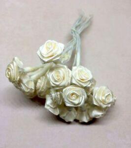 23 Petites Artificielle Blanc/crème Roses-afficher Le Titre D'origine Nous Prenons Les Clients Comme Nos Dieux