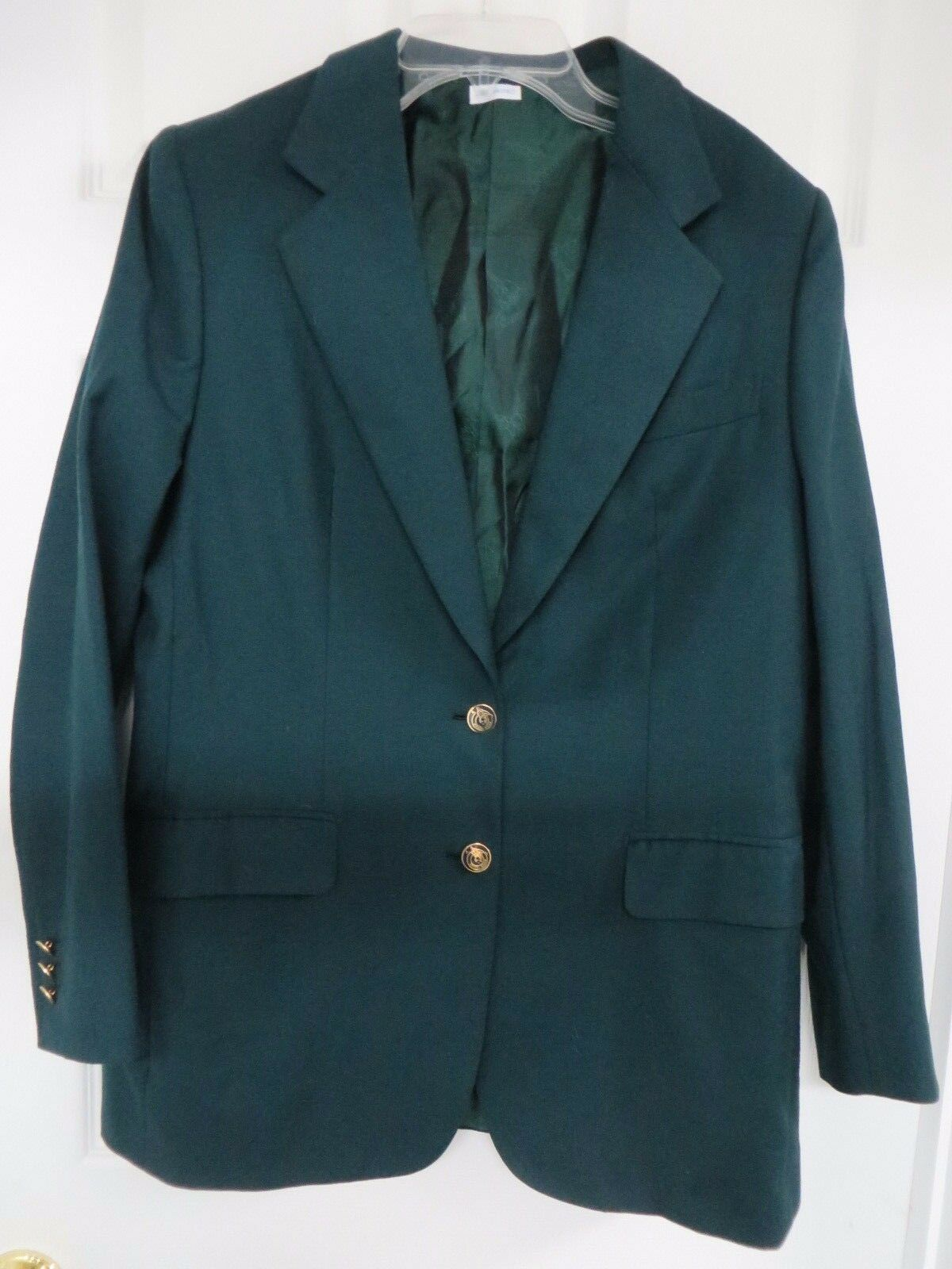 BRIONI  for Maus & Hoffman wool  blazer with two logo front buttons 12R