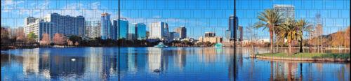 Orlando-Panorama XXL Imprimé Pare-vue Bandes pour clôture Incl Bornes