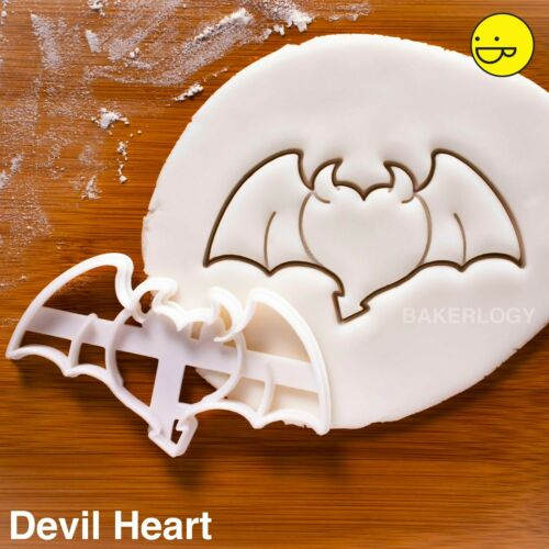 Set of 2 Heart with Angel /& Devil Wings cookie cuttersdemon heaven hell satan