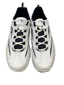 NEW-HI-TEC-Brookland-White-Navy-Royal-GYM-Running-Trainers-Size-13-2896