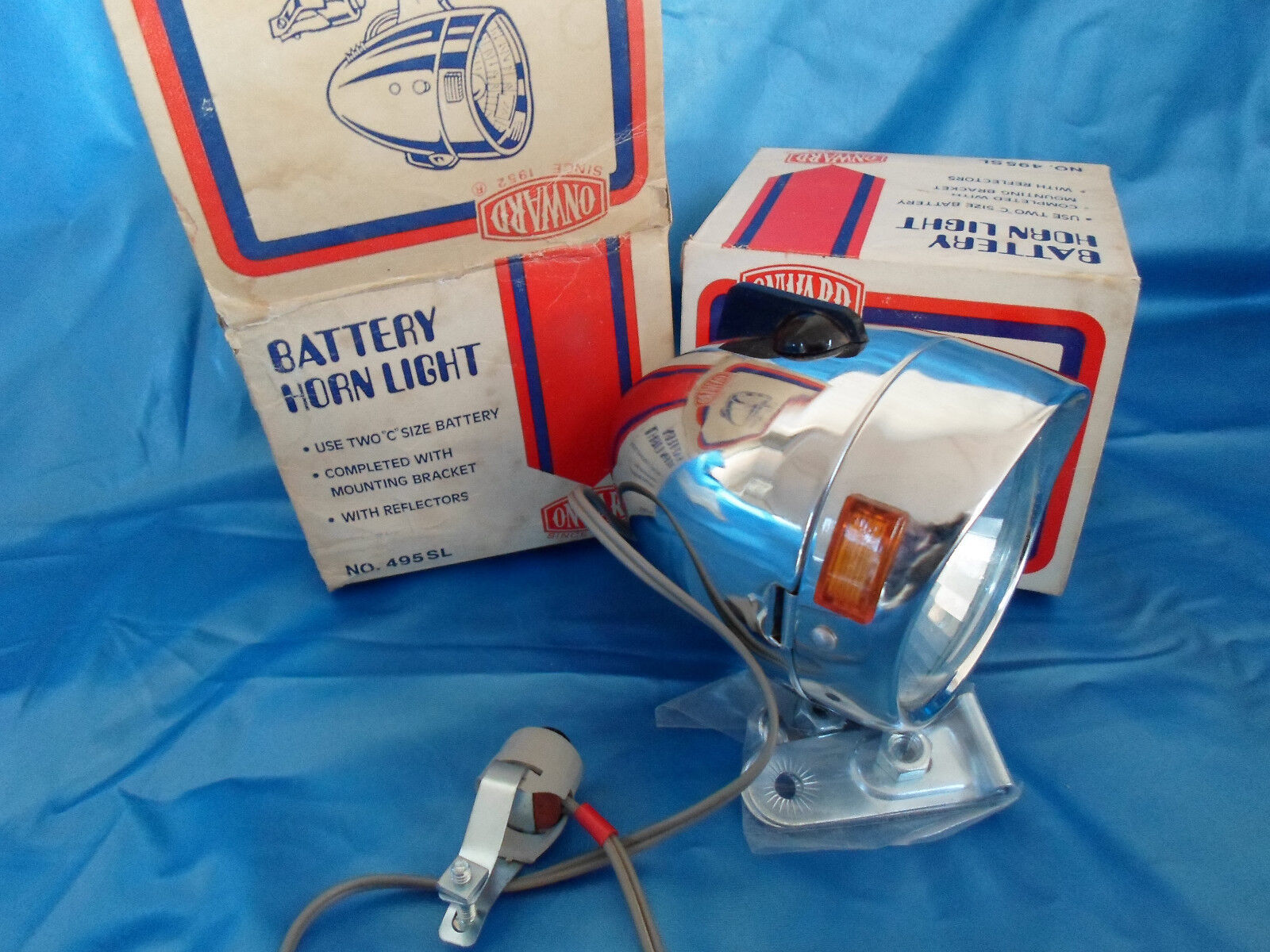 Vintage N.O.S Bicycle Light  -ONWARD- Battery Horn Light For Raleigh schwinn  we offer various famous brand