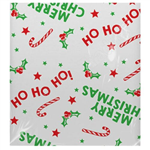 Printed Christmas Table Cloth Cover Dining Table Reusable Wipe Clean Plastic