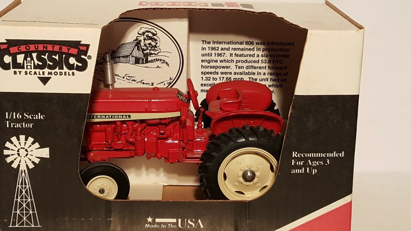 Case IH 606 Dealer Edition 1/16 diecast farm tractor replica by Scale Mode