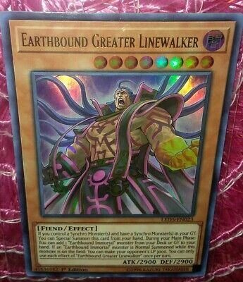 LED5-EN023 Earthbound Greater Linewalker Ultra Rare 1st Edition Mint YuGiOh Card
