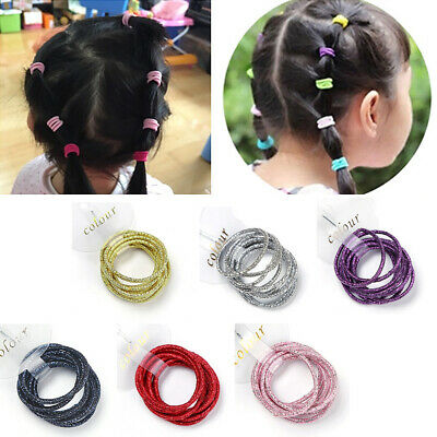 100 x Girl Elastic Rubber Hair Ties Band Rope Ponytail Holder Fashion Scrunchie