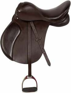All Purpose Premium Leather Jumping English Riding Horse Saddle 14 In To 18 In