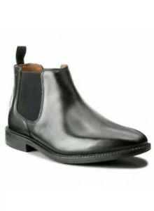 Clarks-Men-s-Chilver-Top-Black-Leather-Chelsea-Boots-UK-10-5-G