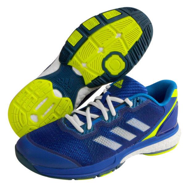 adidas Stabil Boost II Men's Indoor Shoes Badminton Racquet Blue NWT BA8345
