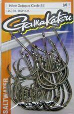 GAMAKATSU SALTWATER #265 INLINE OCTOPUS CIRCLE SE HOOK VALUE PACK NEW! 8/0 - 4