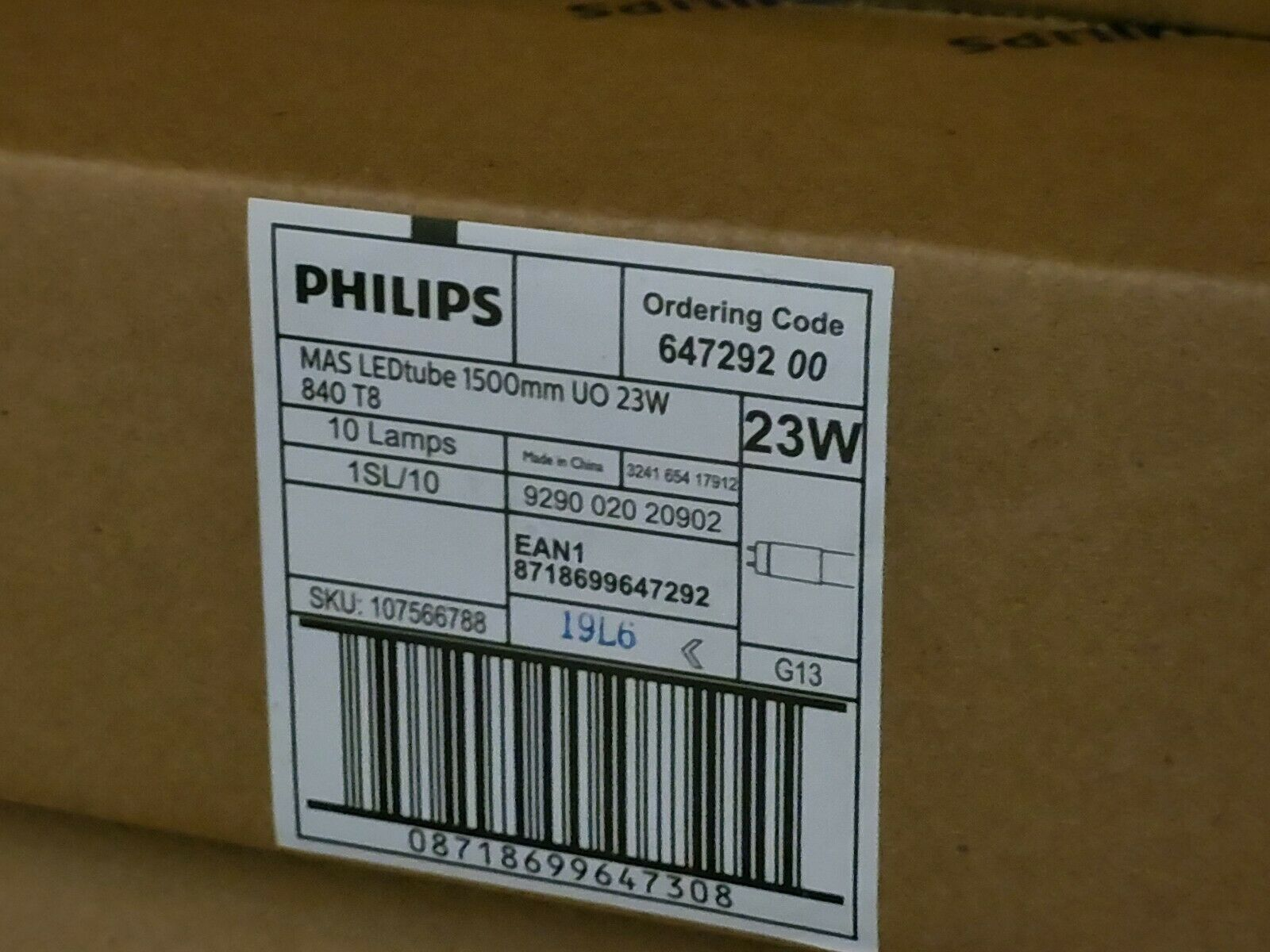 10x Philips Master LEDtube 1500 UO 23W 840 T8 LED Leuchtstoffröhre Ersatz