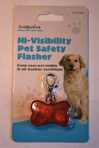 Hi-Visibility Pet Safety LED Flasher - VISIBLE IN ALL WEATHERS -  LIGHT FLASHING