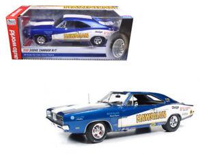 Autoworld-1-18-1969-Dodge-Charger-R-T-Hawaiian-Diecast-Model-Car-AW231
