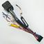 ISO-20Pin-Arnes-de-cableado-Conector-Con-Adaptador-de-camara-de-vision-trasera-para-auto-Stereo-DVD miniatura 4