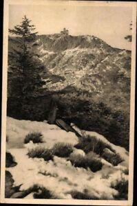 Ansichtskarte-PK-sw-Riesengebirge-Schneegrubenbaude-Schlesien-gelaufen-1935