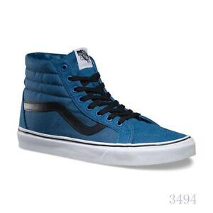 d9b69cd056 VANS Sk8 Hi Reissue (Canvas) Navy Black Skate Shoes Women s Size 9 ...