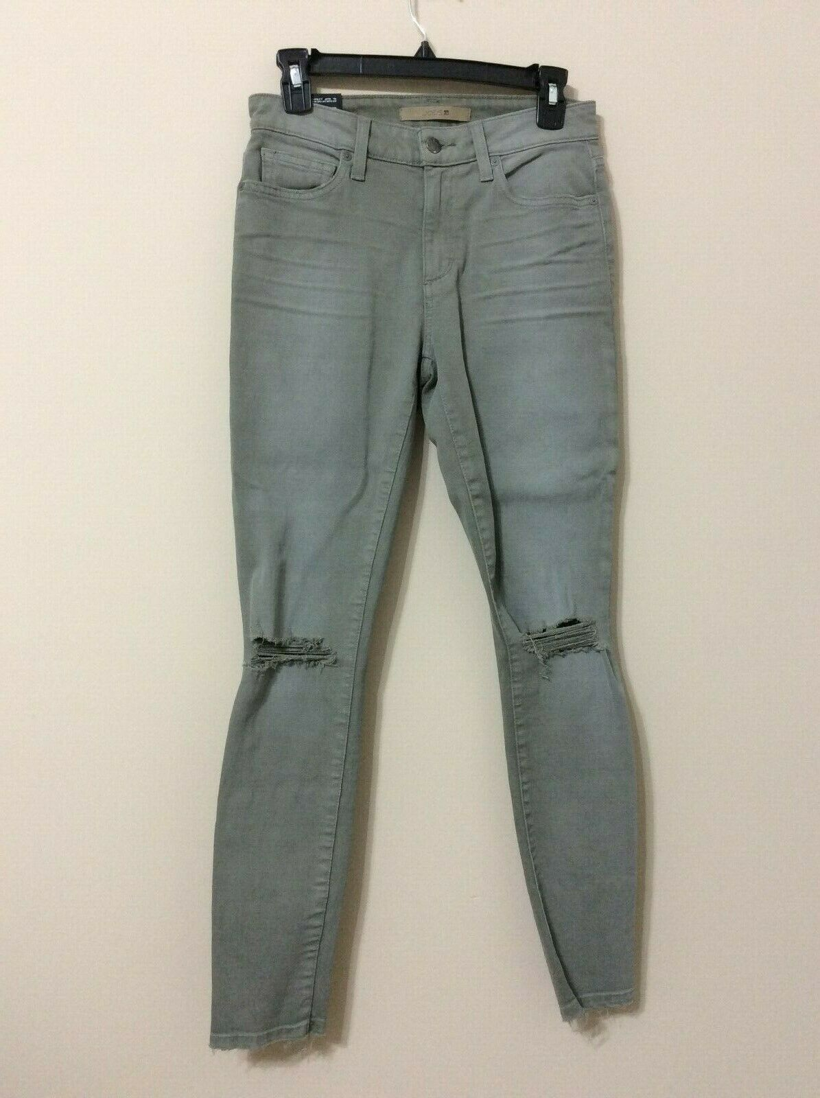 Joe's Jeans damen Navy Grün Distressed skinny Ankle Straight Leg Jeans 26