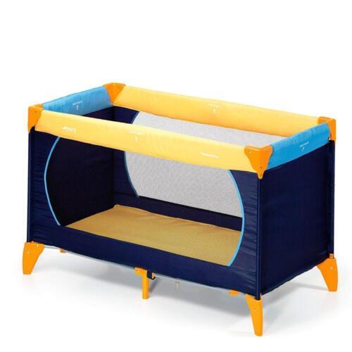 Hauck 604038 Kinderreisebett Dream N Play Tragbar Klappbar Blau 120 x 60 cm