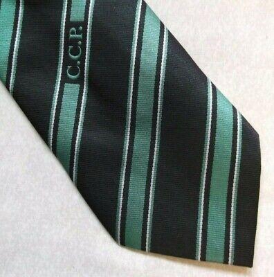 Il Migliore Vintage Cravatta Da Uomo Cravatta Company Logo Aziendale A Righe Nero Verde Ccp- Circolazione Del Sangue Tonificante E Arresto Del Dolore