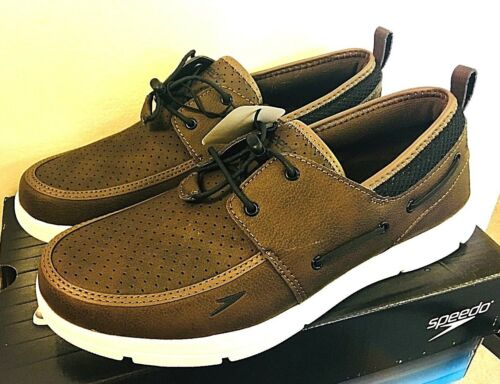 BROWN 8J/_32 Speedo Men/'s Port Water Shoe Slip On Boat Shoe PICK SIZE