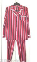 Disney Luxe Womans Pajama Set In Red Plus Multi Stripes-size Small