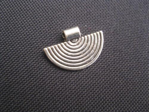 1 Métal Pendentif Argent Couleur 25x17mm Perles Neuf 11267