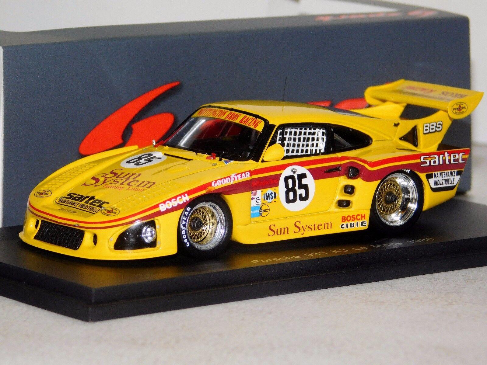 Porsche 935 K3  85 85 85 Le Mans 1980 por Dios, Heywood Whittington Spark S5500 1 43 9d0452