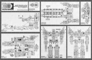 Ocean Detail Decals for Titans Return Fortress Maximus,In stock!