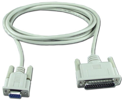6ft Serial  DB9F//DB25M Molded Cable For Epson POS  Printers 5 Pack