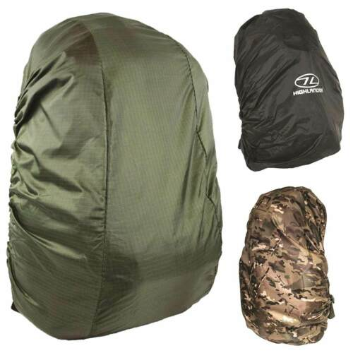 HIGHLANDER WATERPROOF RUCKSACK RAIN COVER Dust Travel Hiking Backpack 20-70L