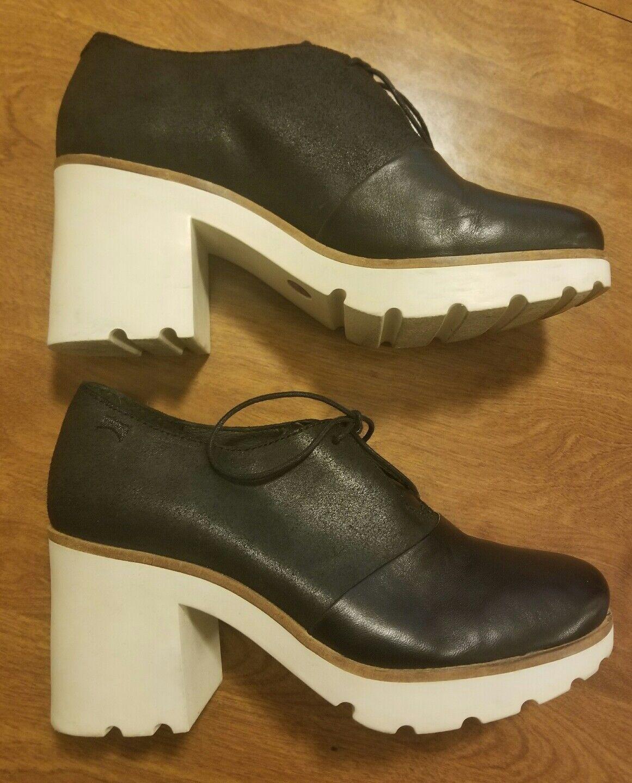 CAMPER Women's Anouk Black Leather Platforms Sz 39 EU 8.5 9 US LIKE NEW