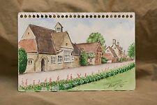 "Original Watercolor by Stuart Jones '98 LOWER SLAUGHTER England 5.5x9"" Village"