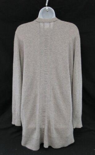 Kokun en c487 Avant Cardigan 100 Femmes Bouton Taille L Pull Cachemire Gris ZrxwZTp6Eq
