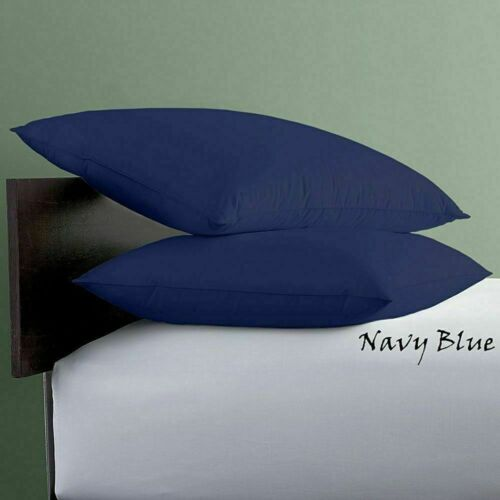 """/""""Soft Quality *2 Qty Pillow Case 1000 TC Egyptian Cotton Solid//Navy Blue Color**"""