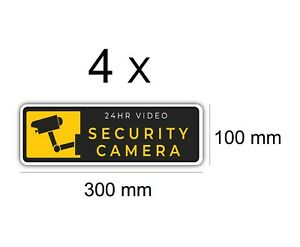 4-x-24-hr-Security-Camera-Vinyl-Stickers-Security-Camera-Warning-Decal