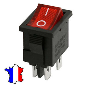 Interrupteur-a-bascule-rouge-KCD1-104-4-Pins-6A-250V-On-Off-permanent