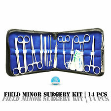 Student Suture Surgical/Military Style/Minor Surgery Kit w/ Scalpel 14 pc SS14