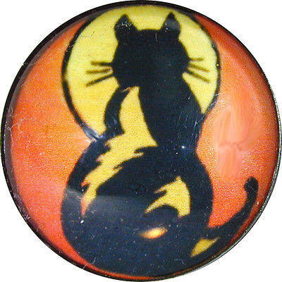 Halloween Crystal Dome Button 1 inch Cat /&Full Moon HW26 FREE US SHIPPING