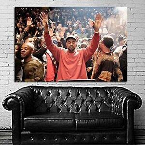 Poster mural kanye west madison square garden 29x43 in 74x110cm adhesive vinyl ebay for Madison square garden kanye west