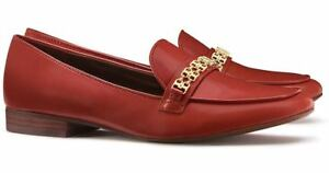 ad9695ab3888 NIB Tory Burch Leather GEMINI LINK LOAFER Shoes Redwood Gold 10 M