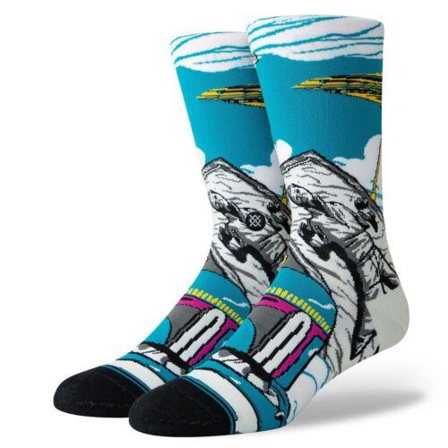 Stance NEW Men/'s Star Wars Warped Bobba Socks White BNWT