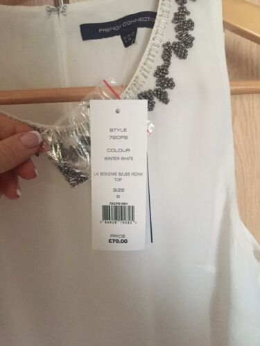 French £70 Rrp Size Connection Top Bnwt 6 qrOqSY